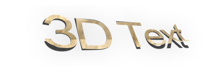 3D Font PS Action