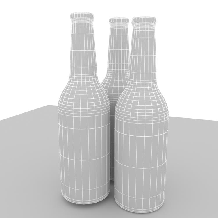 Beer Bottle package design 3d Model