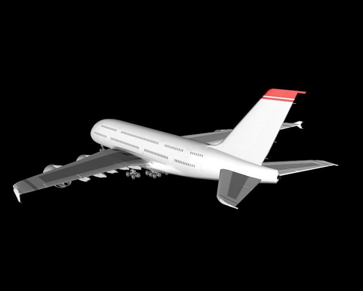 Airbus A380 Air Plane 3D Model