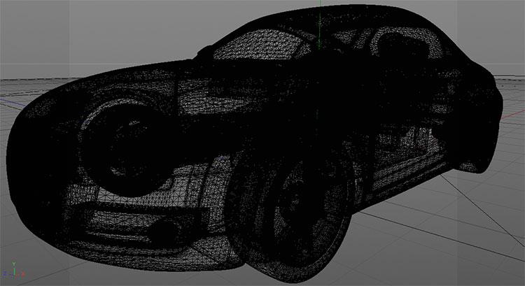 audi tt sports car 3d model