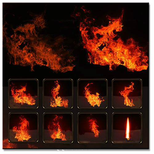 47 Cool Flame Fire Ps Photoshop Brushes