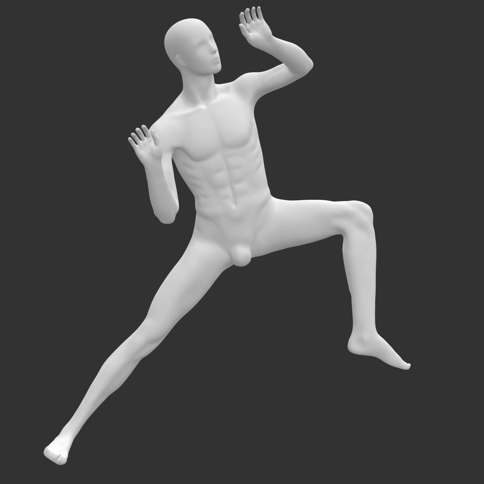 攀岩男模特3d打印模型