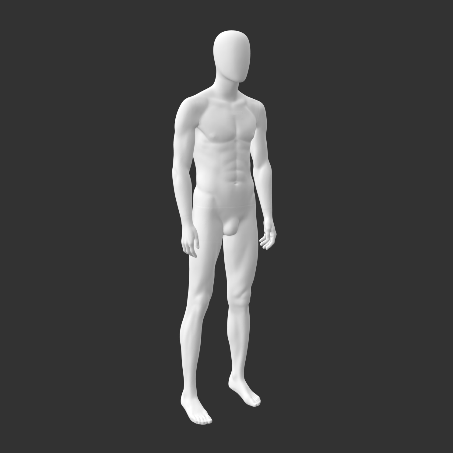 Male Sports Mannequin 3d Printing Model - 1
