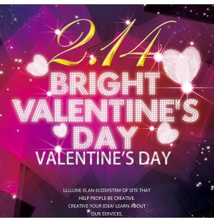 Romantic Valentine's Day Poster LED Lights