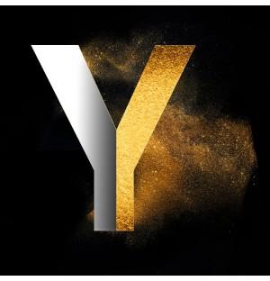 Gold Powder Dust Photoshop psd design capital letter Y