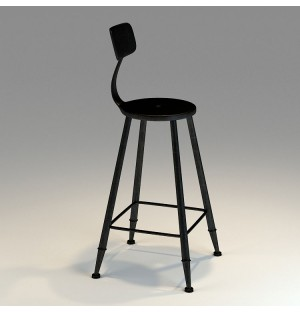 Iron High Chair 3D Model