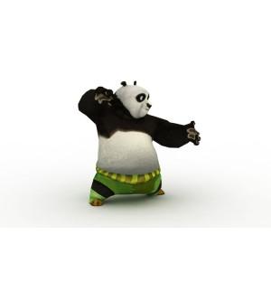 Rigged Animated Kong fu Panda the Dragon Warrior Po Attack