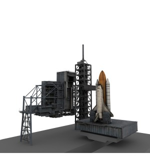 Space shuttle launch pad tower 3d model