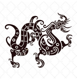 Ancient china dragon
