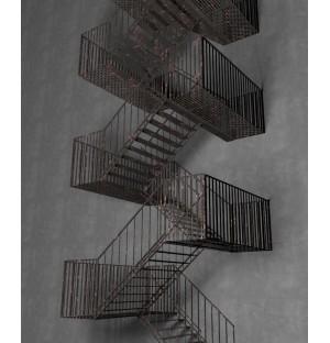 Fire escape passage ramp 3d model