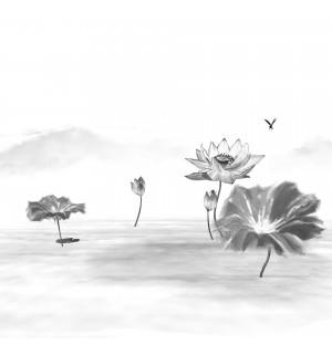 Ink material lotus three-dimensional model total 02