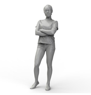 Young female figure 3D model