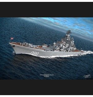 Peter the great cruiser 3d model