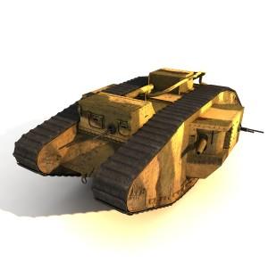 Mark V-3D Tank 3d model