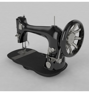 Old Sewing Machine 3d model