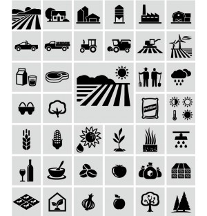 Agriculture Icons AI Vector
