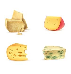 Cheese Cake Photorealistic Graphic AI Vector