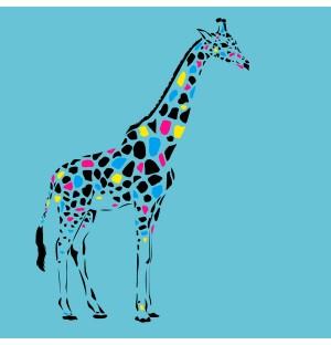 Creative Giraffe Graphic Design AI Vector