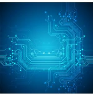 Electrocircuit Background AI Vector