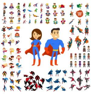 Marvel Film Super Hero Cartoon Characters AI Vector
