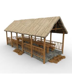 wood cabin building 3d model