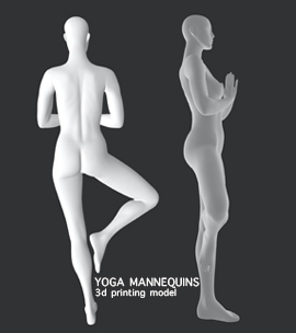 Female Yoga Mannequins 3d printing model