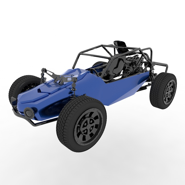 ATV all terrain vehicle dune buggy 3d model