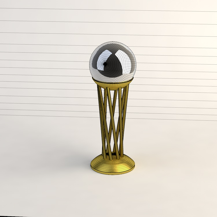 King's Basketball Cup 3d model
