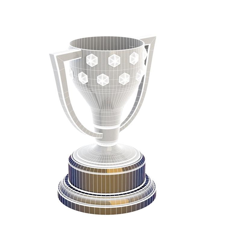 La Liga cup 3d model