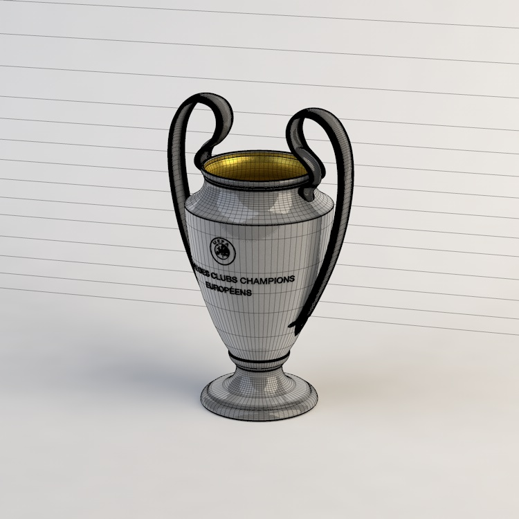UEFA Champions League cup 3d model