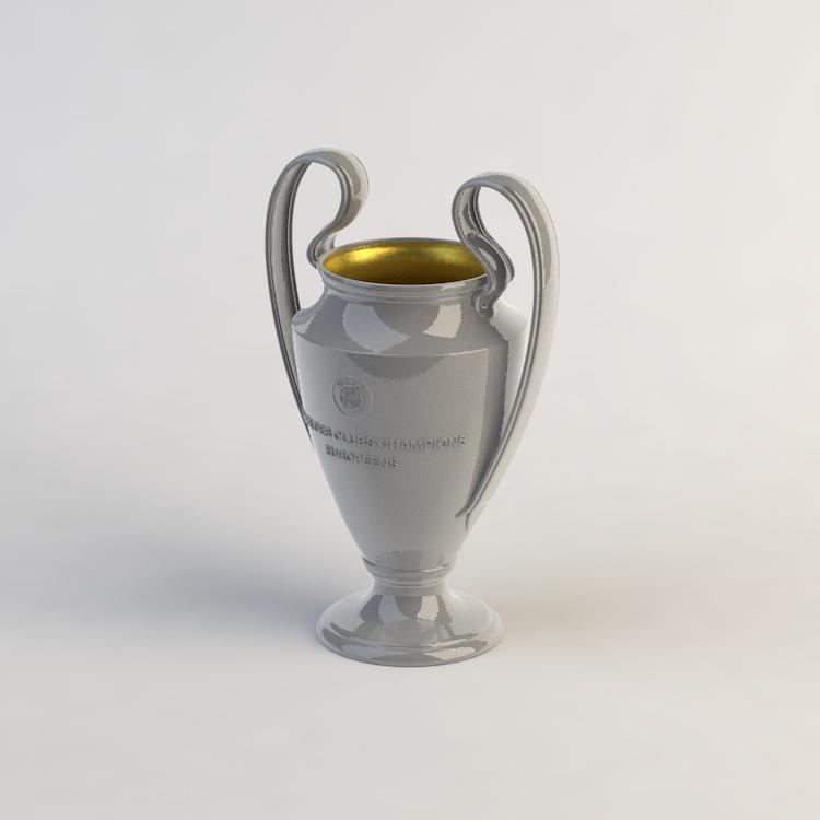 uefa champions league beker 3d model llllline uefa champions league beker 3d model
