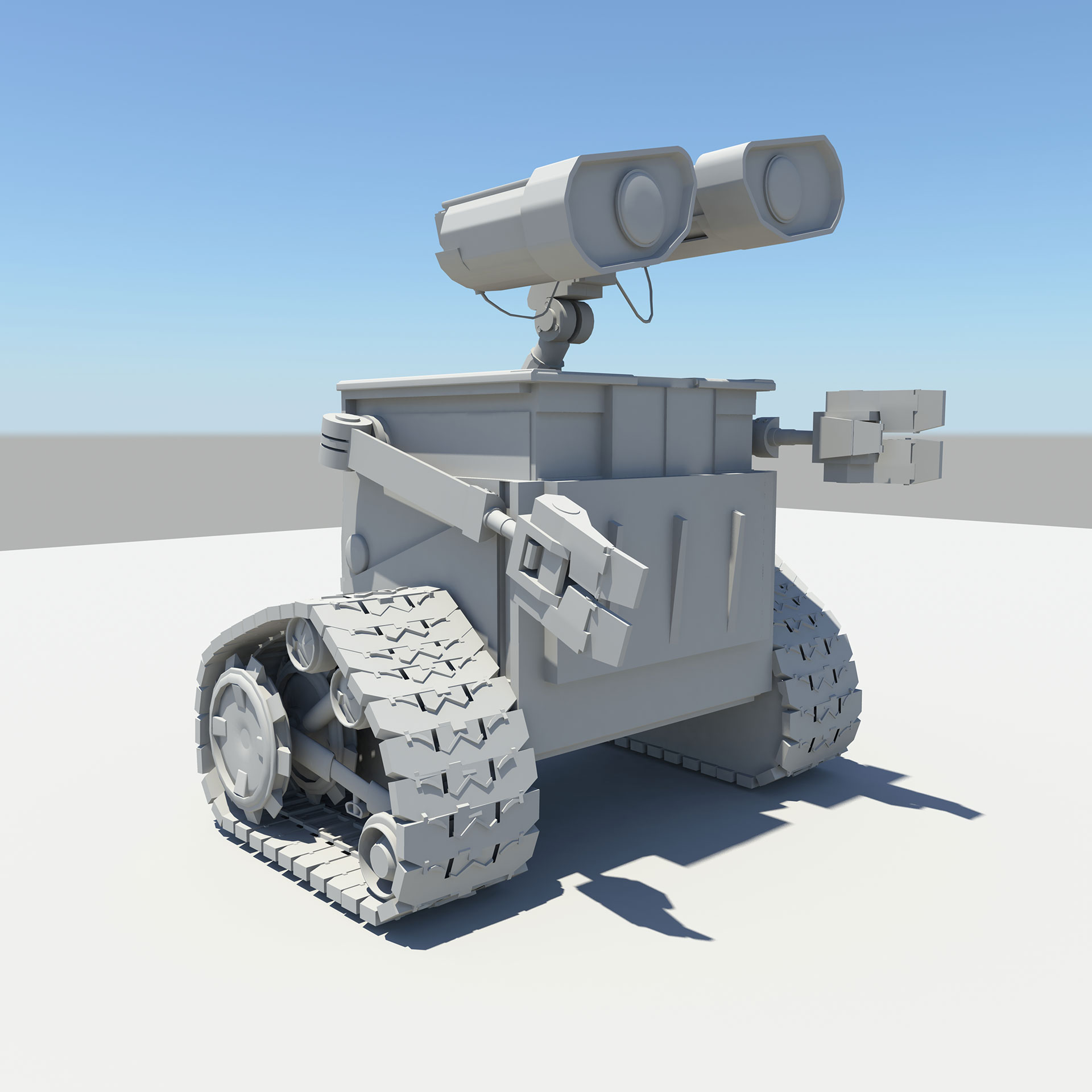 wall e 3d model cute robot