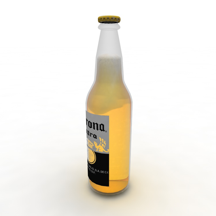 Beer bottle 3d model