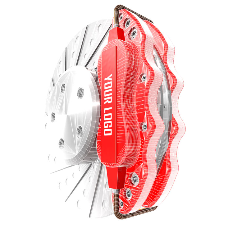 Brake Disc Caliper 3d model
