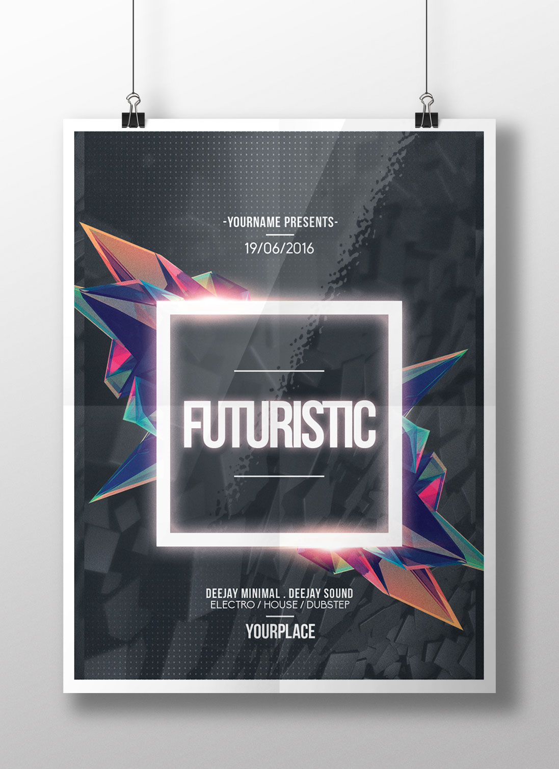 Cool Music Poster Photoshop Psd