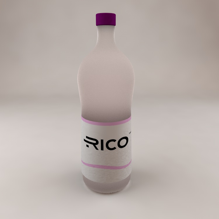 Water Drink bottle 3d Model with perfect liquid material