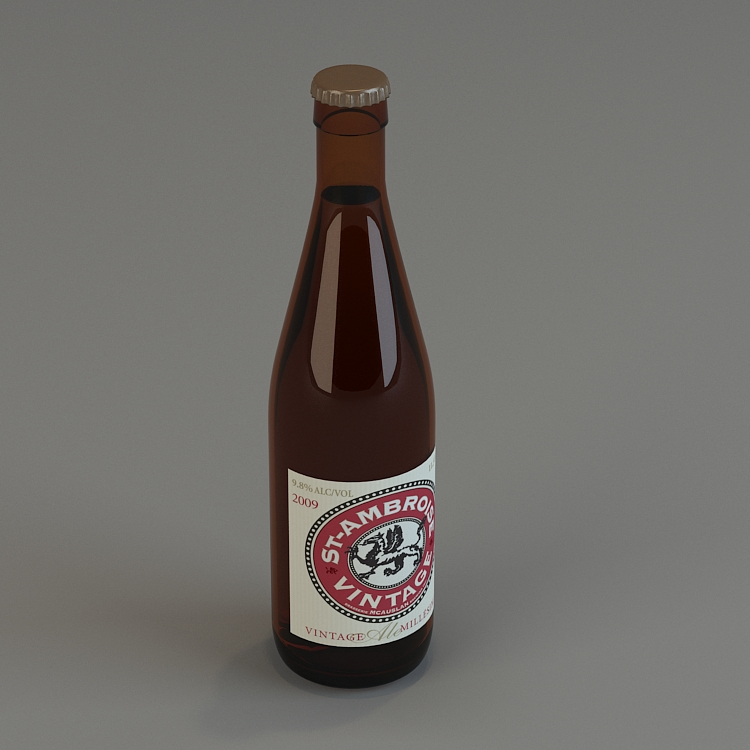 glass bottle 3d model