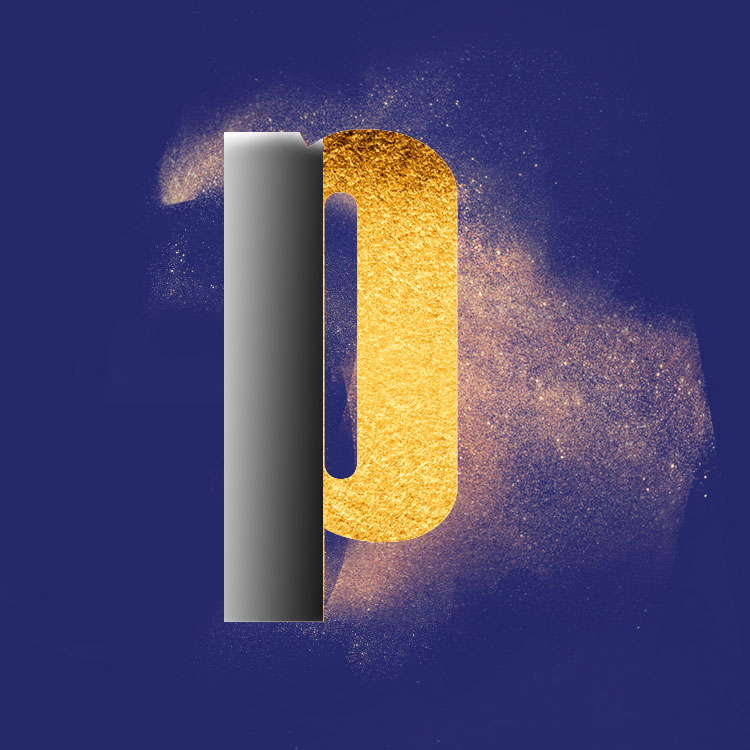 Gold Powder Dust Photoshop psd