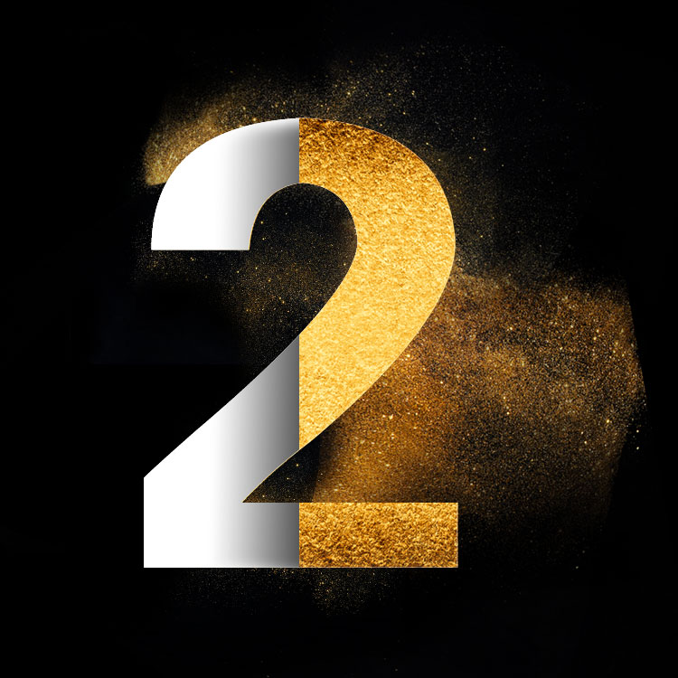 Gold Powder Dust Photoshop Psd Number 2