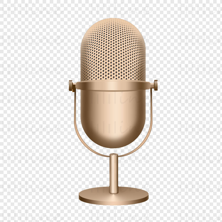 Goldene Mikrofon-Symbol Transparente Hintergrund png