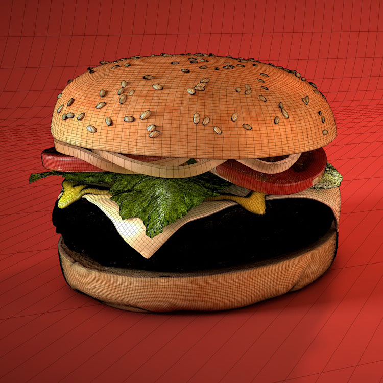 PhotorealisticHamburger 3d model