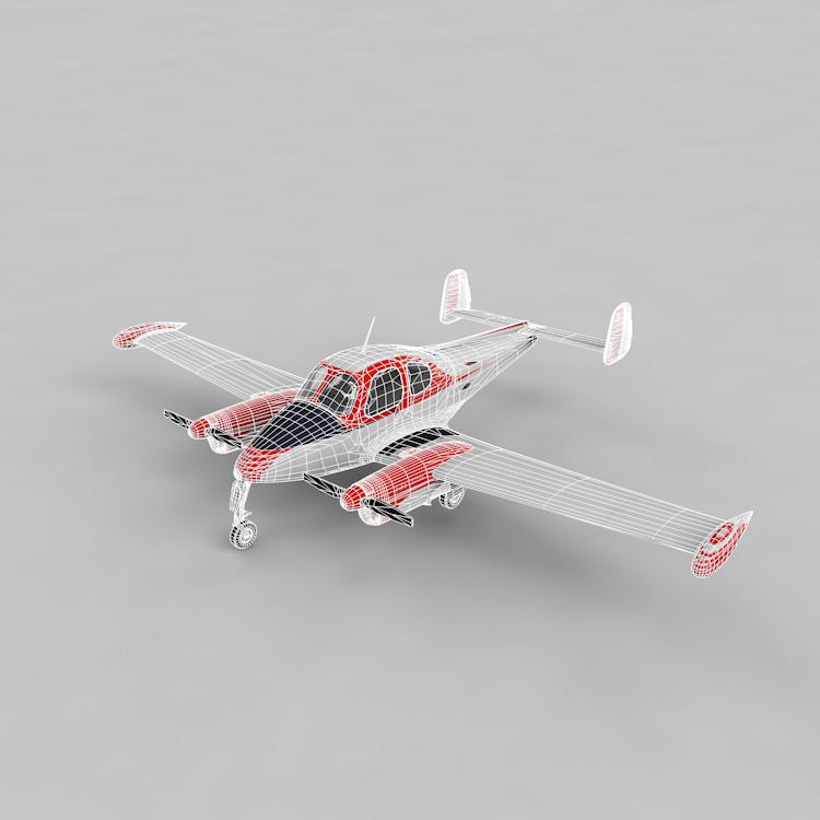 Civil Aircraft 3d model