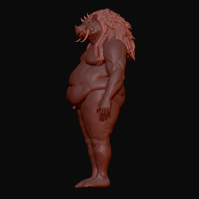 Pig monster 3d model
