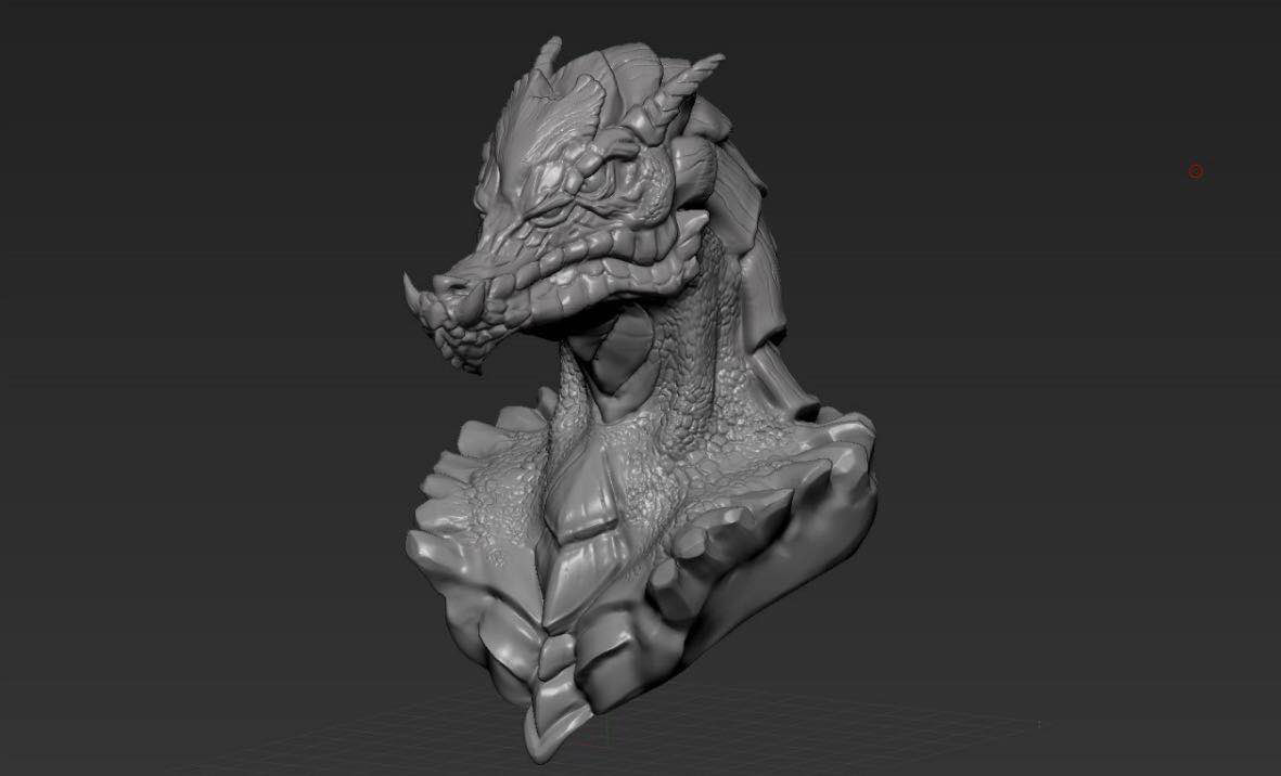 Orc Warrior Bust 3d model