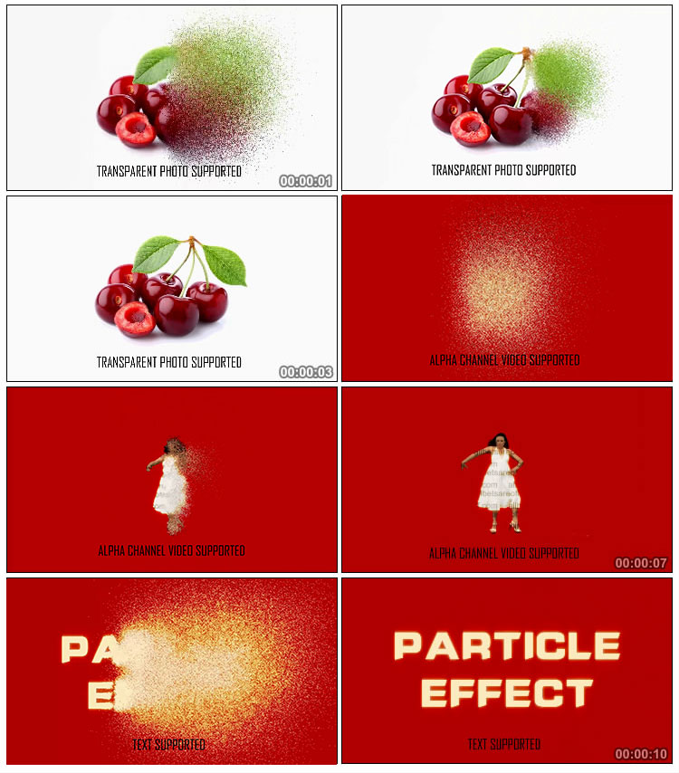 AE  Particle Effect Photo Video Text into Particle VFX