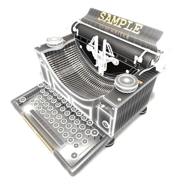 Retro Typewriter 3d model