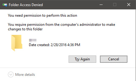 Cannot Delete Folder or Files- Access Denied
