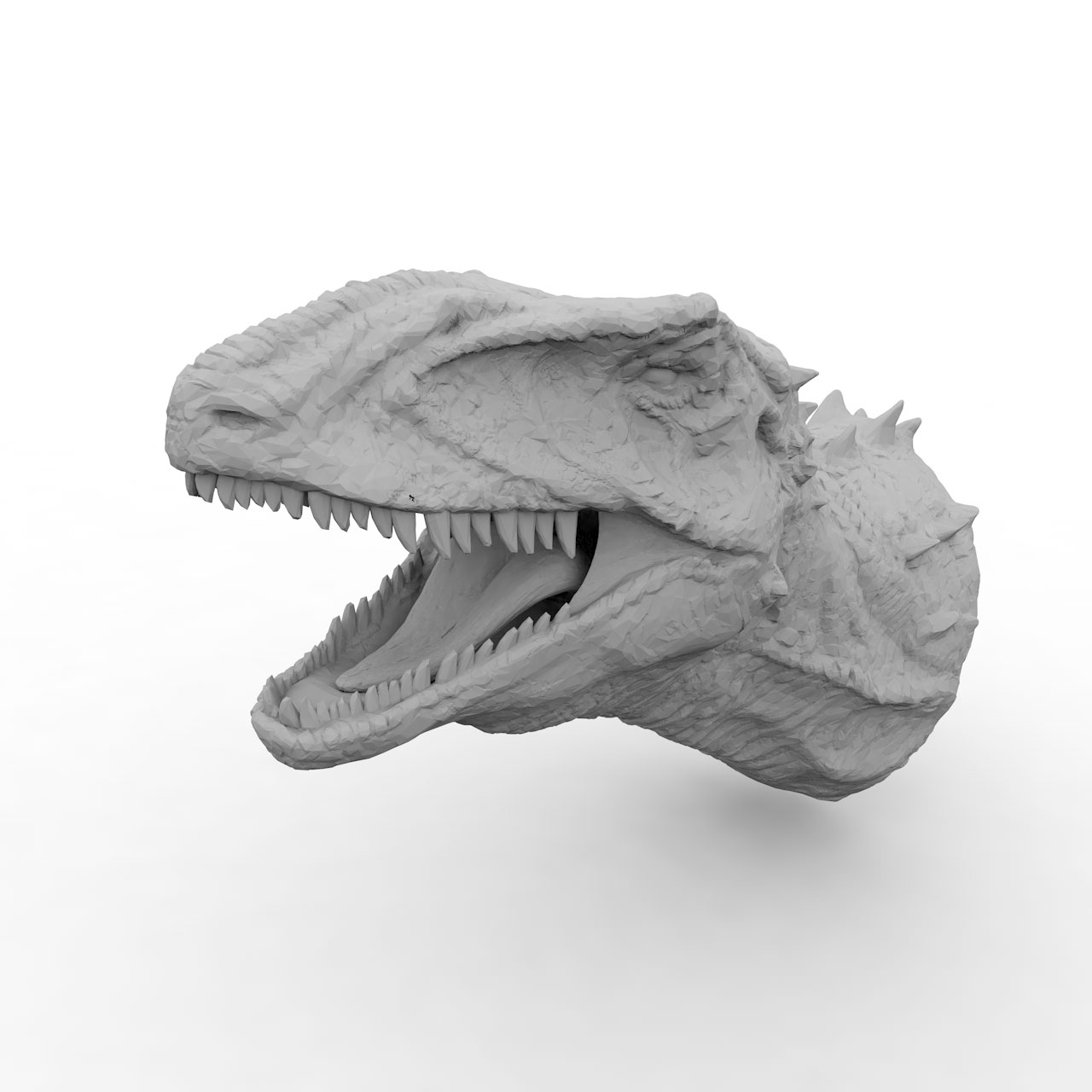 Banjo Dinosaurs Head 3d printing model