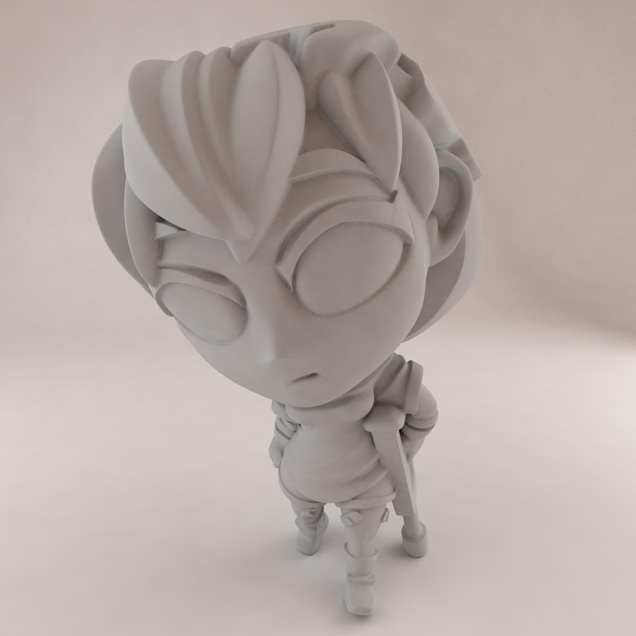 Modèle d'impression 3D Earthchan Hurt