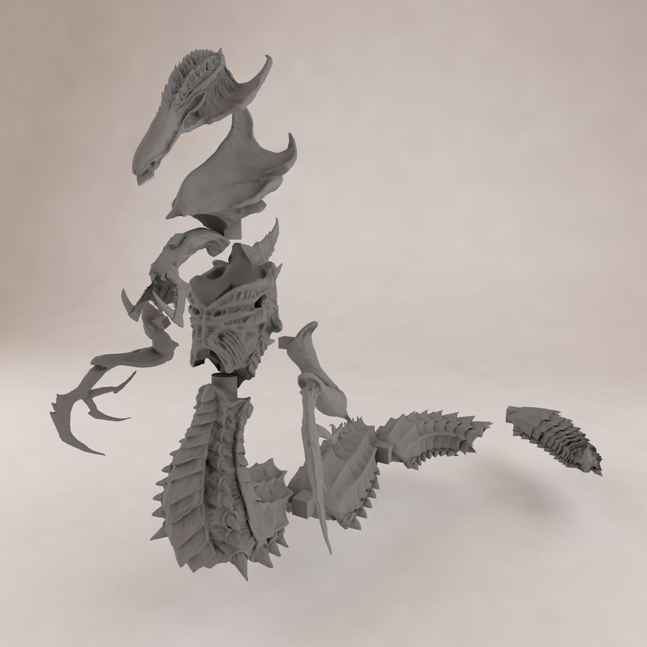 Hydralisk 3d printing model
